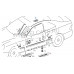 Крепление декоративной планки, Mercedes W208 clk 97-2002