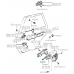 The cable bracket door lock, Camry gracia