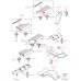Клипса внутренней накладки порога, Range rover 2003-2009