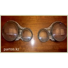 Glass headlights (LH)+(RH), W210