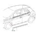Клипса крепления порога, Auris (E150) 2007-2012